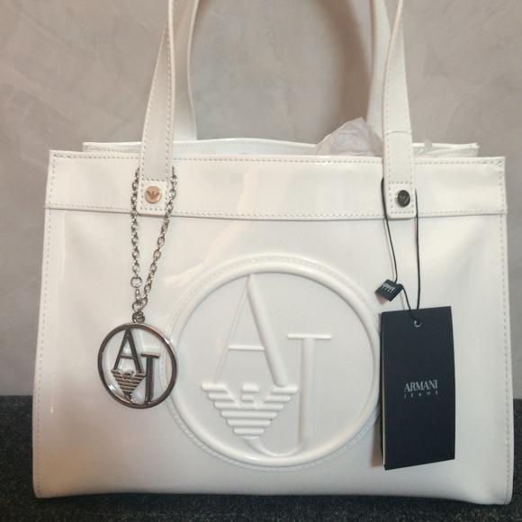 ARMANI CIRCLE LOGO WOMEN S PATENT BAG f8e15586ff176
